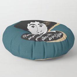 Never Do Anything Yourself - Agatha Christie - Teal Floor Pillow