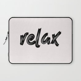 relax - hand made caligraphy Laptop Sleeve