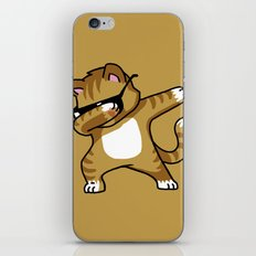 Dabbing Cat Caramel iPhone Skin