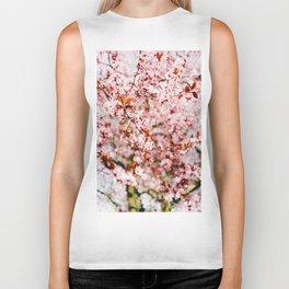 Cherry Blossom Tree (Color) Biker Tank