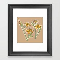 Orange lilies Framed Art Print