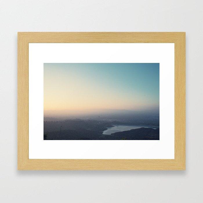 Sunset Reservoir Framed Art Print
