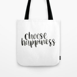 Choose Happiness Watercolour Tote Bag