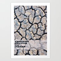 cracked Art Prints featuring Cracked by F. C. Brooks