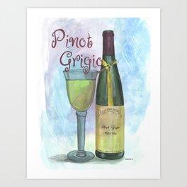Watercolor Wine Art Print