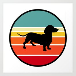 Dachshunds in the sunset Art Print