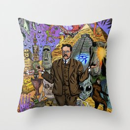 Charles Fort - Fortean Throw Pillow