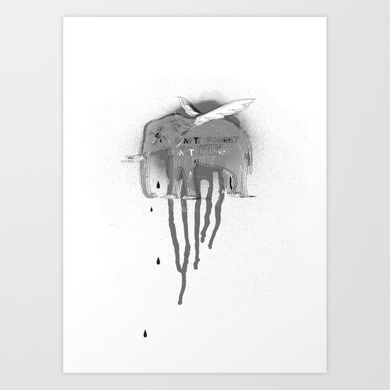 Don't forget to fly Art Print