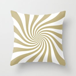 Swirl (Sand/White) Throw Pillow