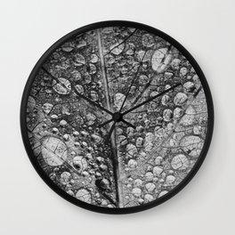 silvery leaf Wall Clock