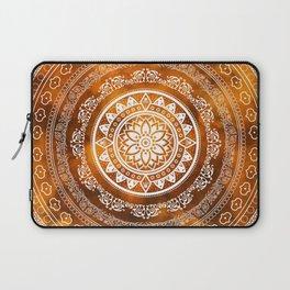 Mandala Golden Destiny Spiritual Zen Bohemian Hippie Yoga Mantra Meditation Laptop Sleeve