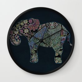 Exotic Elephant Wall Clock