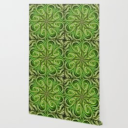 Emerald Swirl Wallpaper