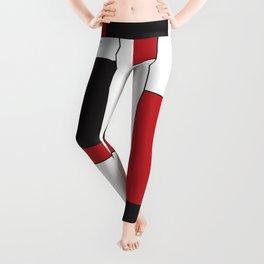Geometric Abstract - Rectangulars Colored Leggings