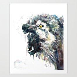 Wild, Wild Wolf Art Print