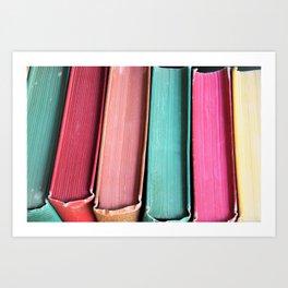 Colorful Vintage Book Spines Art Print