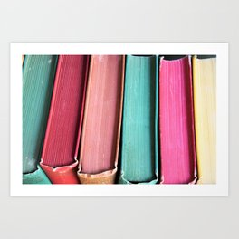 Colorful Vintage Book Spines Art Print