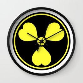 Love Radiology Logo Hearts Radiation Wall Clock