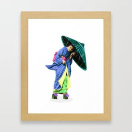 Walking to Color. Framed Art Print