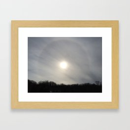 Cloudy Corona Framed Art Print