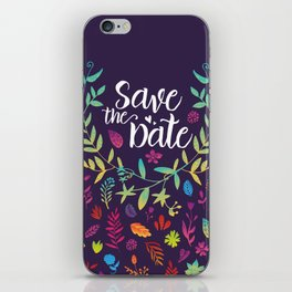 Save the Date iPhone Skin