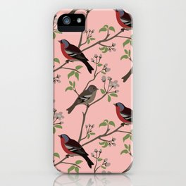 Peaceful harmony in the cherry tree iPhone Case