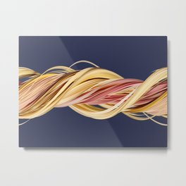 Dark blue (slit scan) Metal Print
