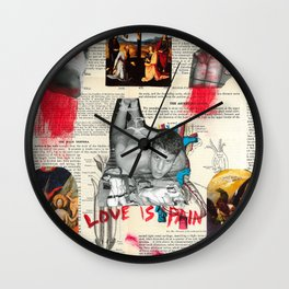 Love is Pain Wall Clock