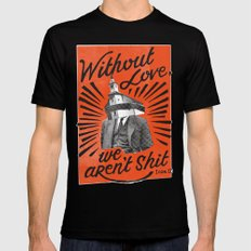 Without Love Mens Fitted Tee MEDIUM Black