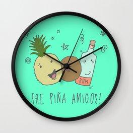 The Pina  Amigos! Wall Clock