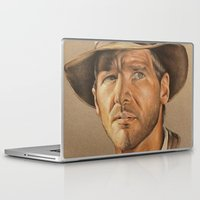 indiana Laptop & iPad Skins featuring Indiana Jones by Ashley Anderson