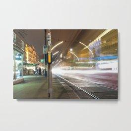 Light trails in Wien Metal Print