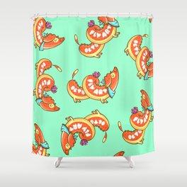 Hotdog Shower Curtain