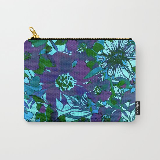 floral melodie in purple Carry-All Pouch