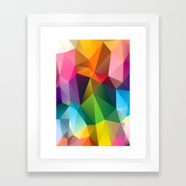 Geometric view Framed Art Print