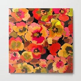 peach  floral Metal Print