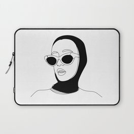 One line portrait.Digital art. Gift ideas,Sexy gift for him. Sexy erotic poster Laptop Sleeve