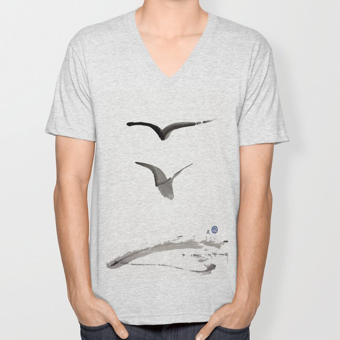 Love Hawk 1 Unisex V-Neck