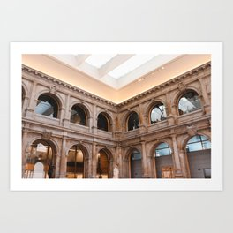 The columns of the Museum del prado Art Print