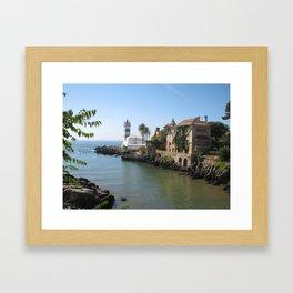 Cascais loved by the ocean Framed Art Print