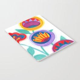 raw flower garden Notebook