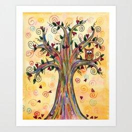 Owl in the Tree Art Print
