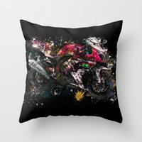 motorcycle Throw Pillows featuring Motorcycle by ron ashkenazi