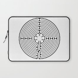 Cathedral of Our Lady of Chartres Labyrinth - Black Laptop Sleeve