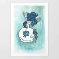 skull bloom Art Print