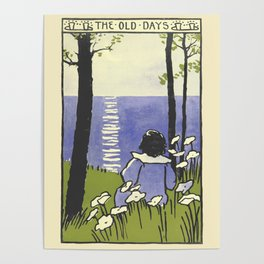 """The Old Days-19th Century Emmeline Richardson from """"Songs from Near and Far Away""""  Poster"""