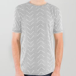 Mudcloth Big Arrows in Grey All Over Graphic Tee