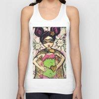 girl power Tank Tops featuring Girl Power by Lisa Ferrante