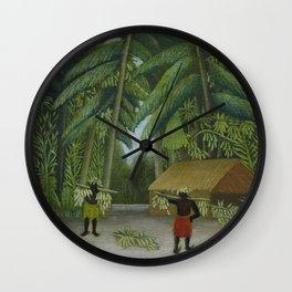 Banana Harvest Wall Clock