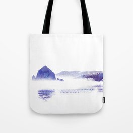 Haystack Rock watercolor Tote Bag
